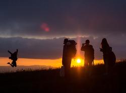 Coucher du soleil depuis le Semnoz