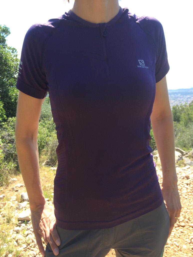 Salomon T-shirt lightning pro ss zip woman