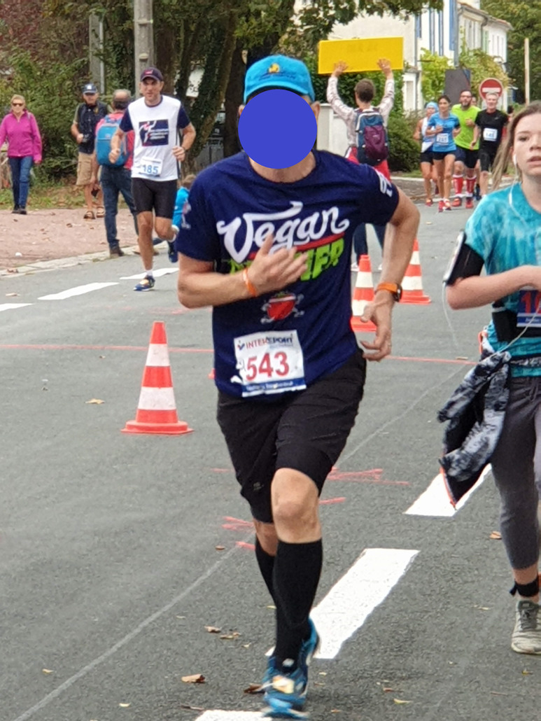 L214 Tee shirt Vegan Runner