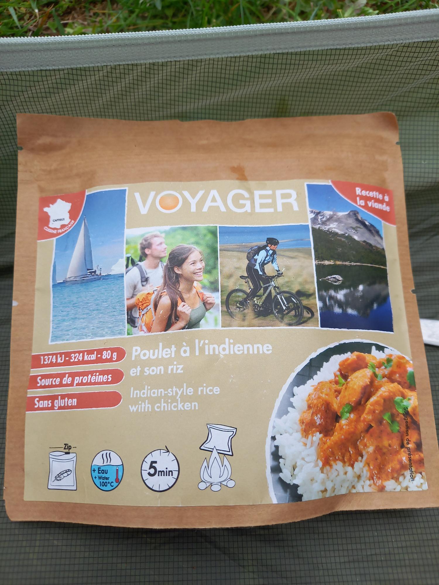 Voyager poulet a l'indienne et son riz