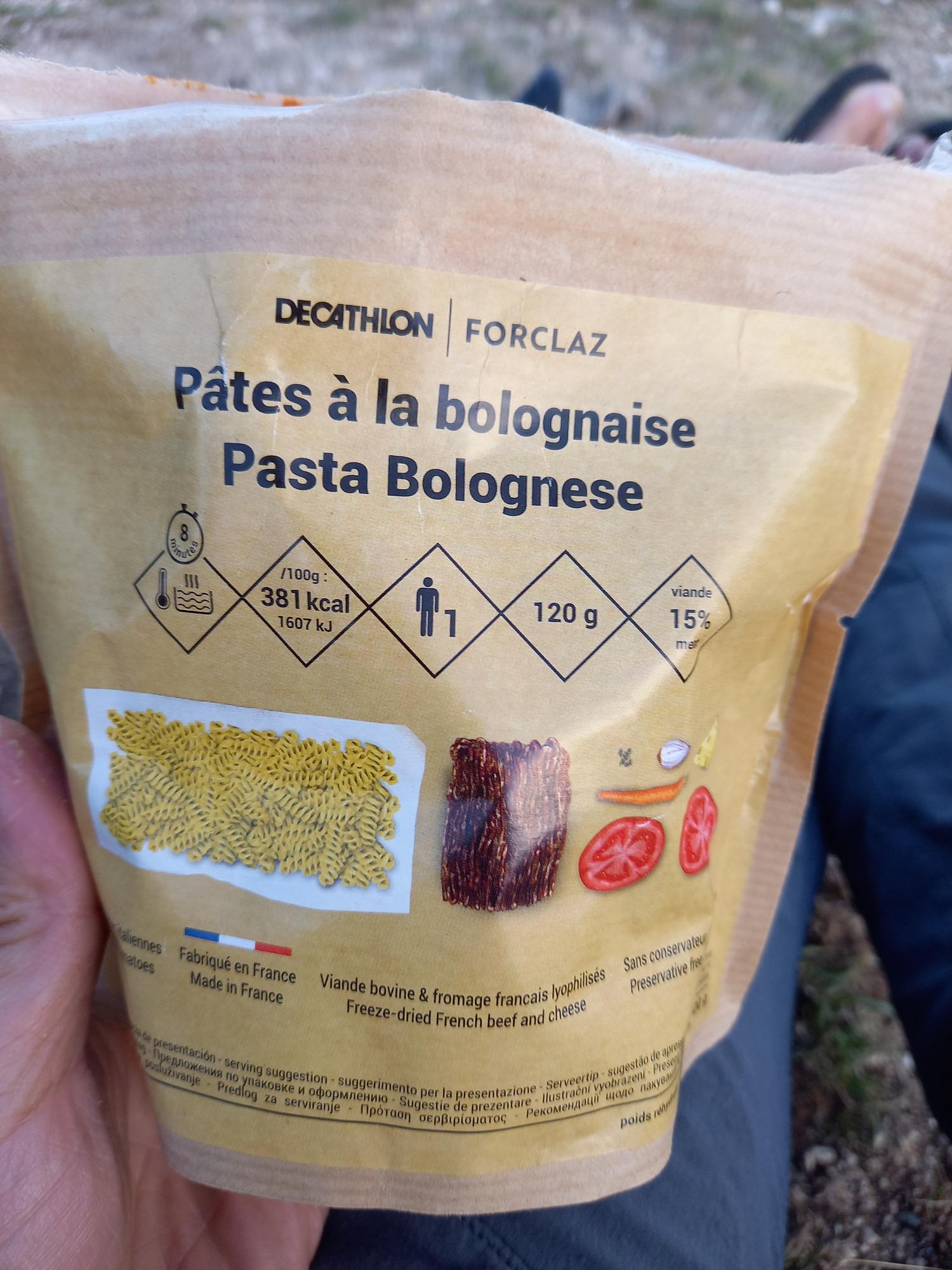 Décathlon Pâtes à la bolognaise