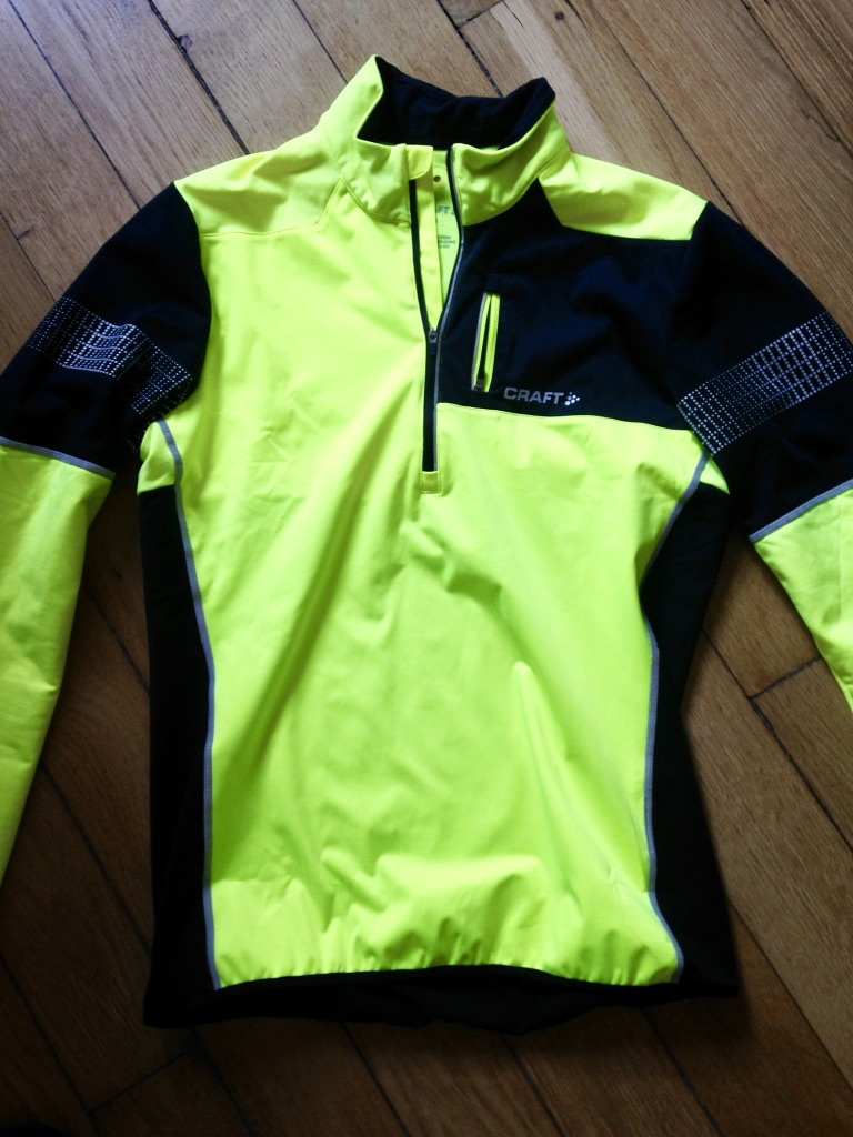 Craft Maillots Craft Homme - Maillot Thermal Wind Brilliant 2.0 - Jaune/Noir