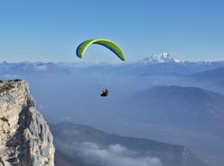 Thermiques, face au Mont Blanc