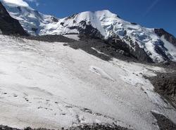 Le refuge de Tête Rousse et le Glacier de Bionnassay