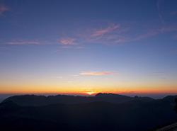 Coucher de soleil depuis Chamechaude