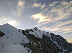 Voie des aiguilles grises au Mont Blanc