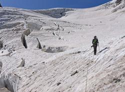 Descente du glacier des Violettes