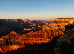 Sun set in the Grand Canyon
