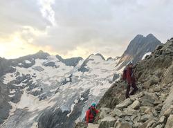 Alpinisme Ecrins - Gioberney - Face aux Bans