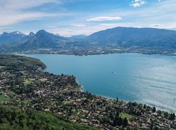 Vue sur le lac d'Annecy
