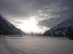 Sur les pistes de ski de fond à Bessans