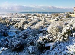 Ajaccio sous la neige