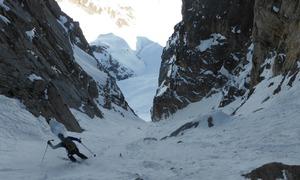 En action en ski
